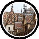 Photographie d'un bâtiment médiéval à Beaune